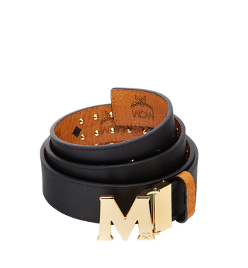 "MCM Claus Flat M Belt 1.5"" in Studded Outline Visetos Alternate View 2"