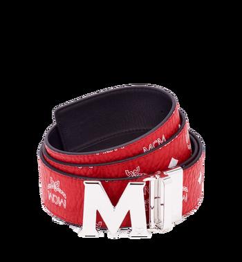 "MCM M Reversible Belt 1.75"" in White Logo Visetos MXB8SVI03RV001 AlternateView"
