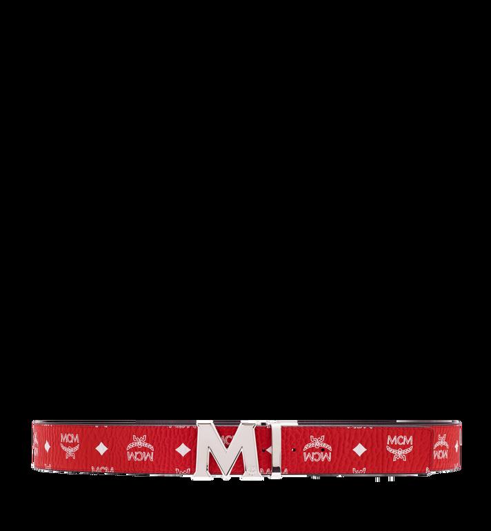 """MCM M Reversible Belt 1.75"""" in White Logo Visetos Alternate View 3"""