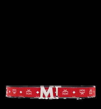 "MCM M Reversible Belt 1.75"" in White Logo Visetos MXB8SVI03RV001 AlternateView3"