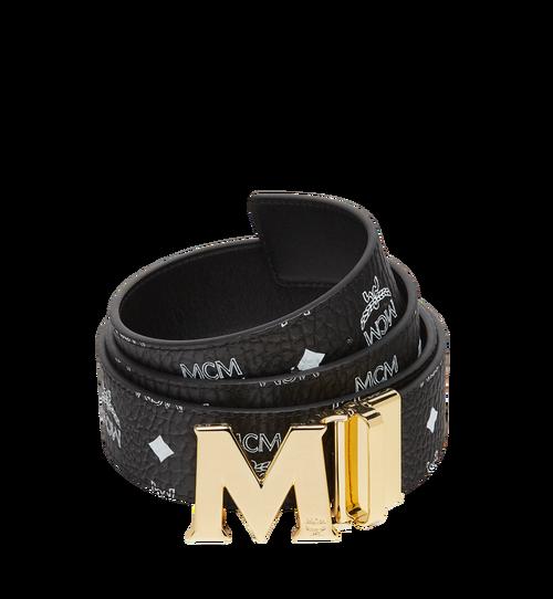 """M Reversible Belt 1.75"""" in White Logo Visetos"""
