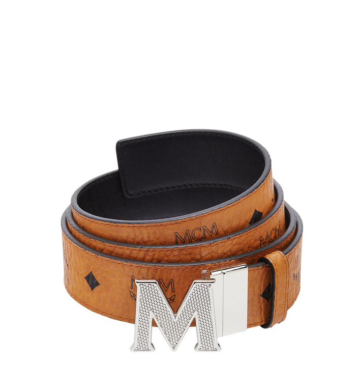 "MCM Claus Textured M Reversible Belt 1.5"" in Visetos Alternate View"