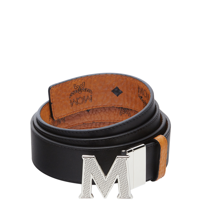 "MCM Claus Textured M Reversible Belt 1.5"" in Visetos Cognac MXB8SVI21CO001 Alternate View 2"