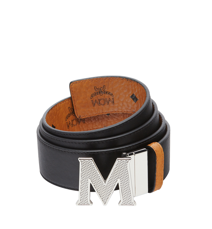 "MCM Claus M Reversible Belt 1.75"" in Visetos Cognac MXB8SVI22CO001 Alternate View 2"