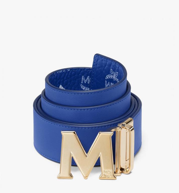 "MCM Claus M Reversible Belt 1.75"" in Visetos Blue MXB9AVI04H1001 Alternate View 2"