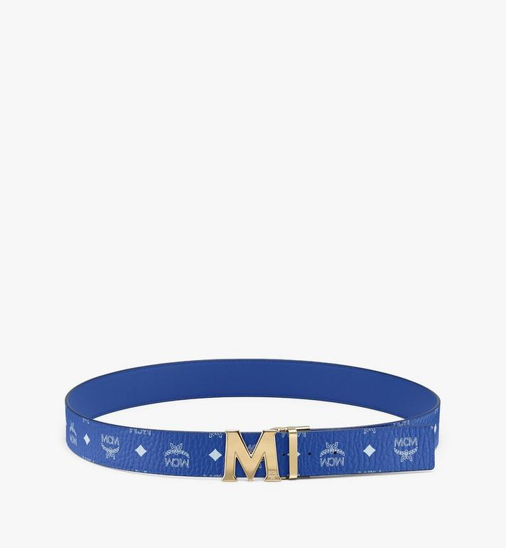 "MCM Claus M Reversible Belt 1.75"" in Visetos Blue MXB9AVI04H1001 Alternate View 3"