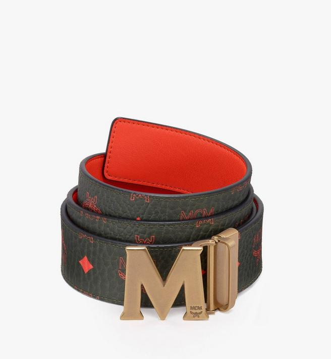 """MCM Claus Antique M Reversible Belt 1.75"""" in Visetos Alternate View"""