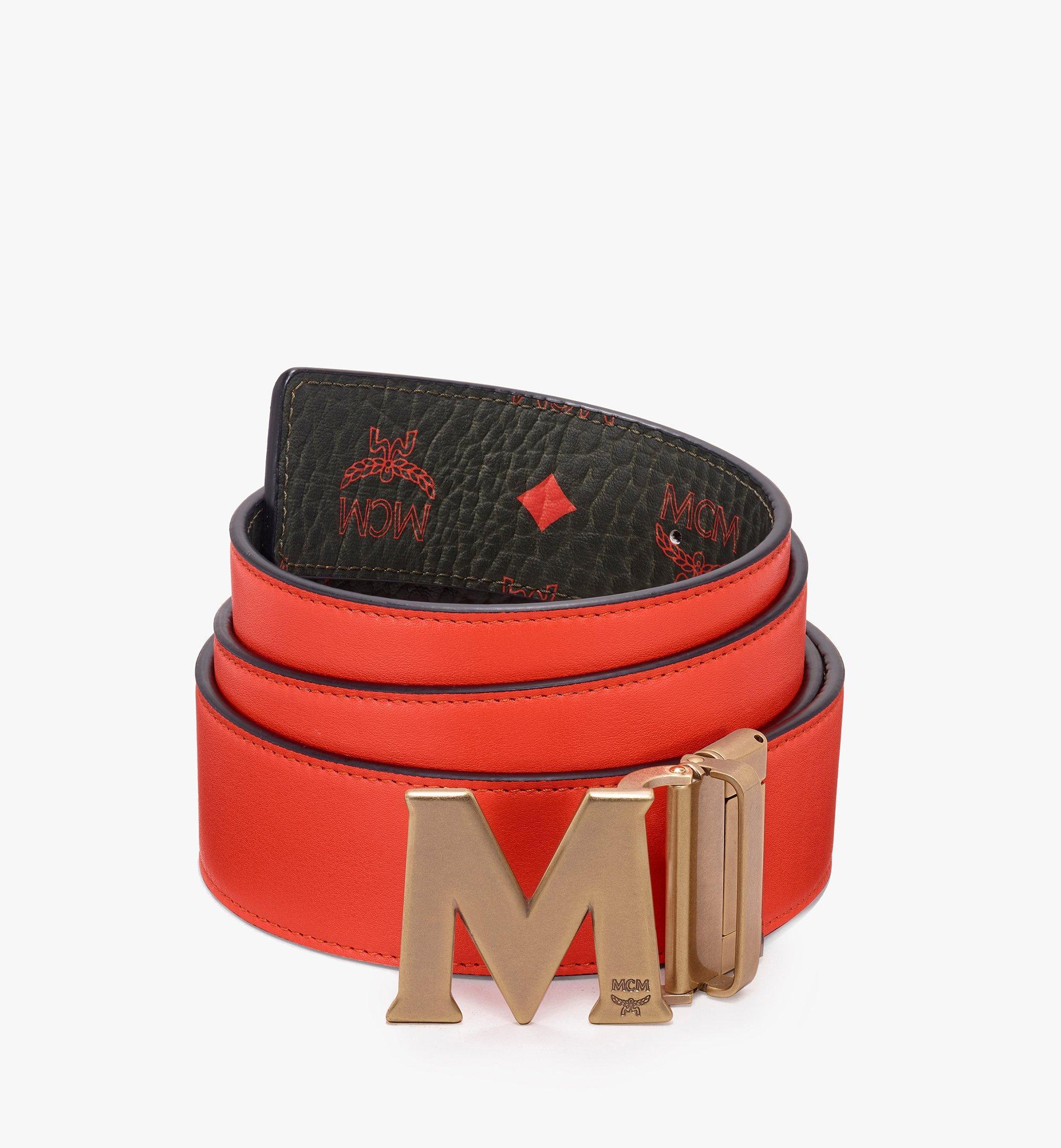 "MCM Claus Antique M Reversible Belt 1.75"" in Visetos Green MXB9AVI11G8001 Alternate View 2"