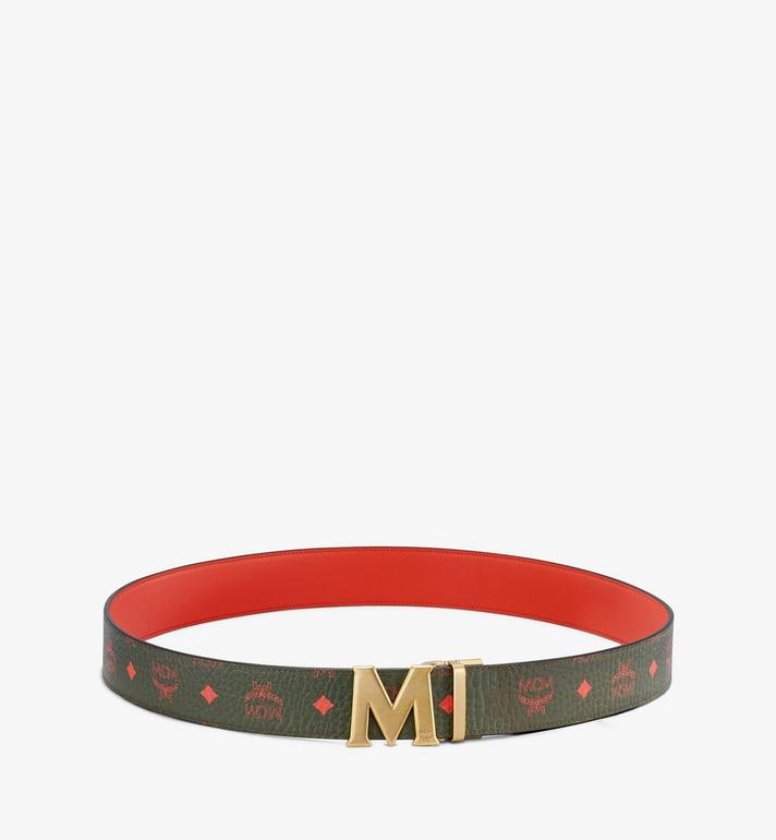 "MCM Claus Antique M Reversible Belt 1.75"" in Visetos Green MXB9AVI11G8001 Alternate View 3"