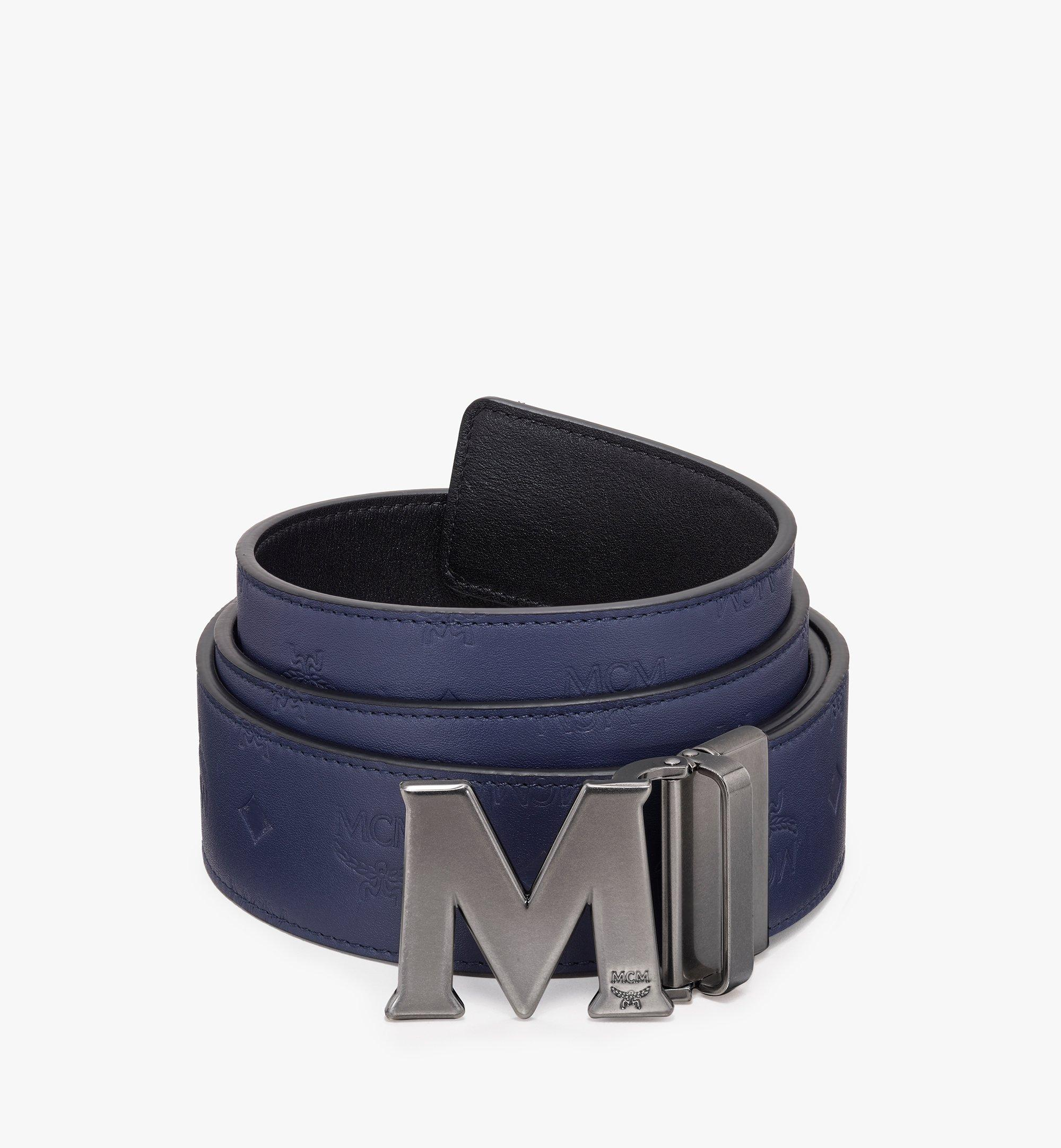 MCM Claus古董「M」型可翻轉使用皮帶 Navy MXB9AVI16VA001 更多視圖 1