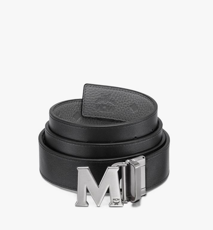 """MCM 모노그램 레더 클라우스 M 리버시블 벨트 1.5"""" Grey MXB9AVI17FK001 Alternate View 2"""