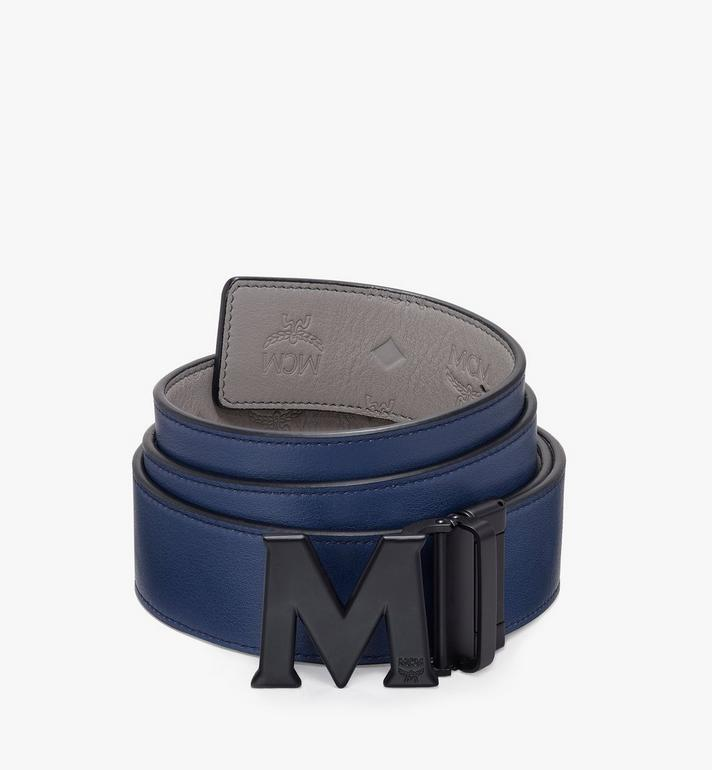 "MCM Claus Black M Reversible Belt 1.75"" in Monogram Leather Alternate View 2"