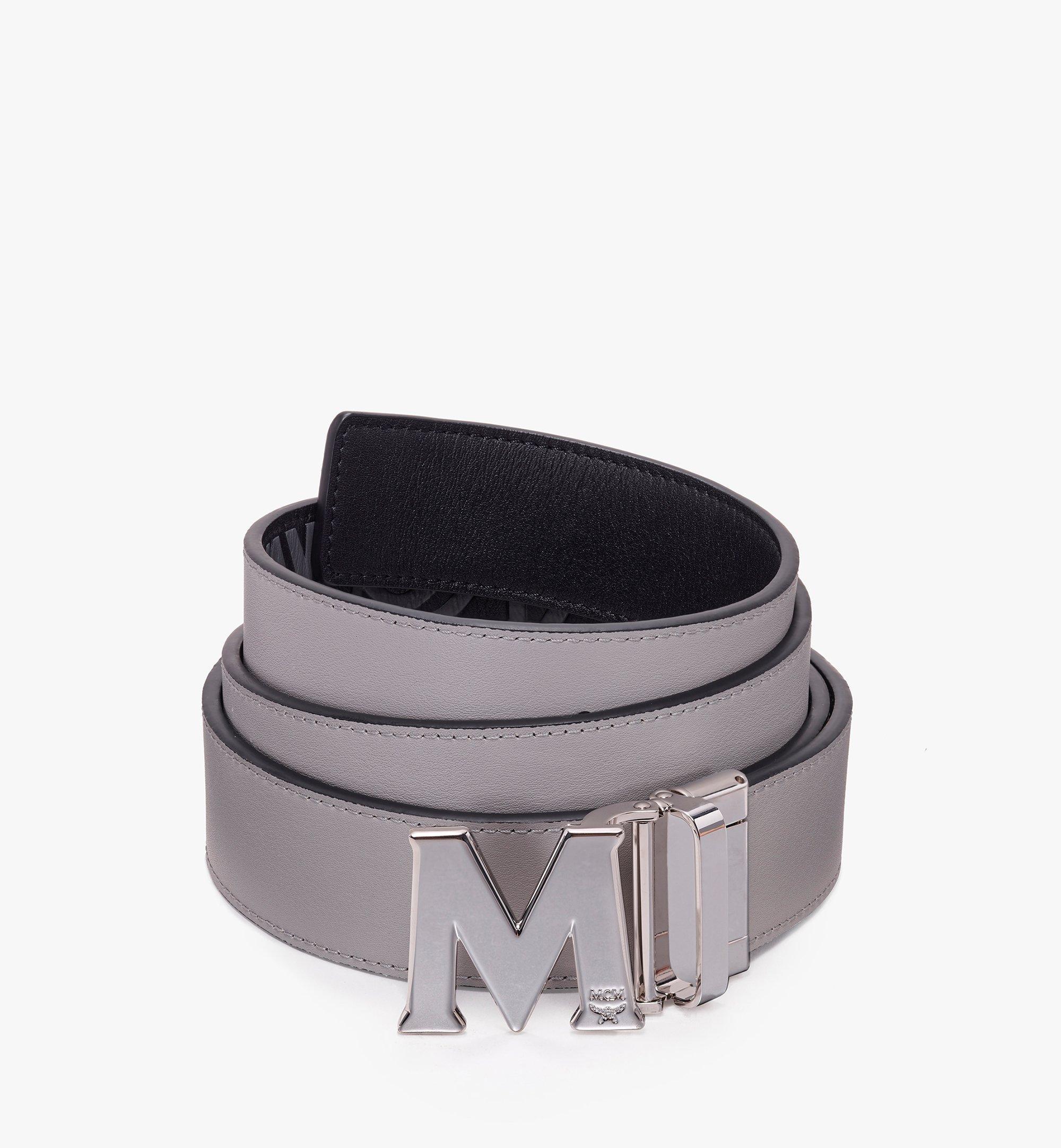 One Size Claus Flat M Reversible Belt in Visetos Black | MCM® DE
