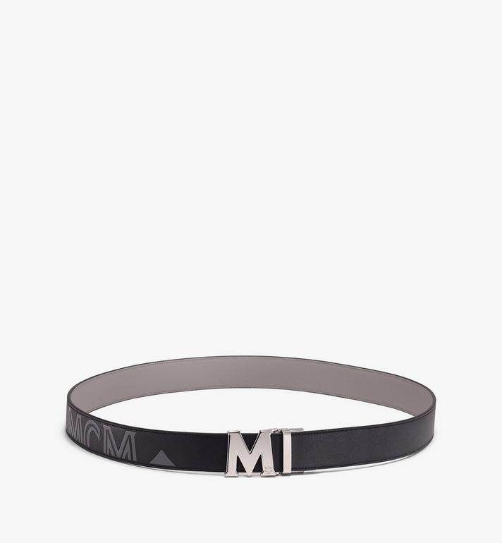 "MCM Claus Flat M Reversible Belt 1.5"" in Logo Leather Black MXB9AVI46BK001 Alternate View 3"