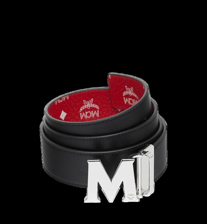 """MCM M Reversible Belt 1.75"""" in White Logo Visetos Red MXB9SVI03AV001 Alternate View 2"""
