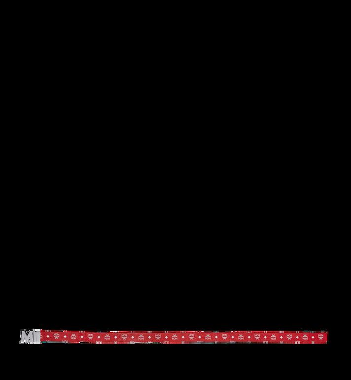 """MCM M Reversible Belt 1.75"""" in White Logo Visetos Red MXB9SVI03AV001 Alternate View 3"""
