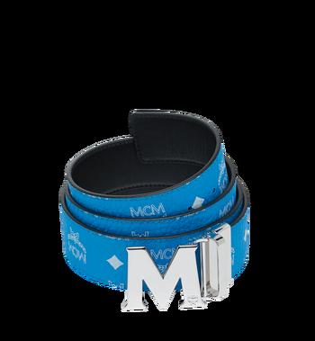 """MCM M Reversible Belt 1.75"""" in White Logo Visetos Alternate View"""