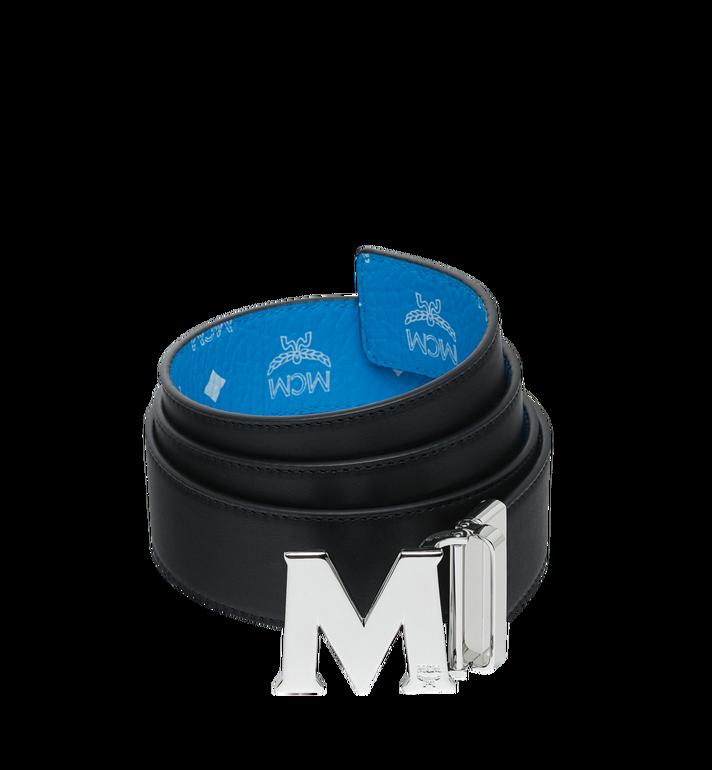 """MCM M Reversible Belt 1.75"""" in White Logo Visetos AlternateView2"""