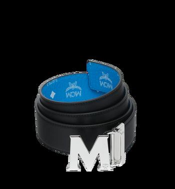 """MCM M Reversible Belt 1.75"""" in White Logo Visetos Alternate View 2"""