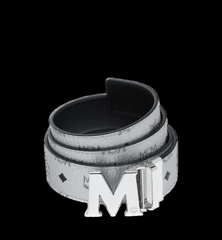 MCM M Wendegürtel 4,4 cm mit Visetos-Logo in Weiss Alternate View