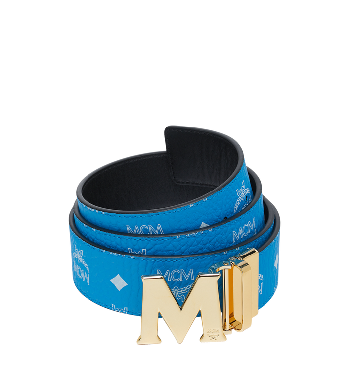 """MCM M Reversible Belt 1.75"""" in White Logo Visetos AlternateView"""