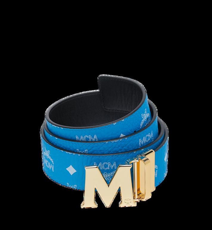 "MCM M Reversible Belt 1.75"" in White Logo Visetos MXB9SVI04HI001 AlternateView"