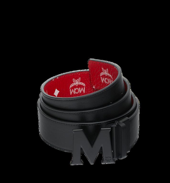 MCM 화이트로고 비세토스 블랙 M 리버시블 벨트 MXB9SVI10AV001 AlternateView2