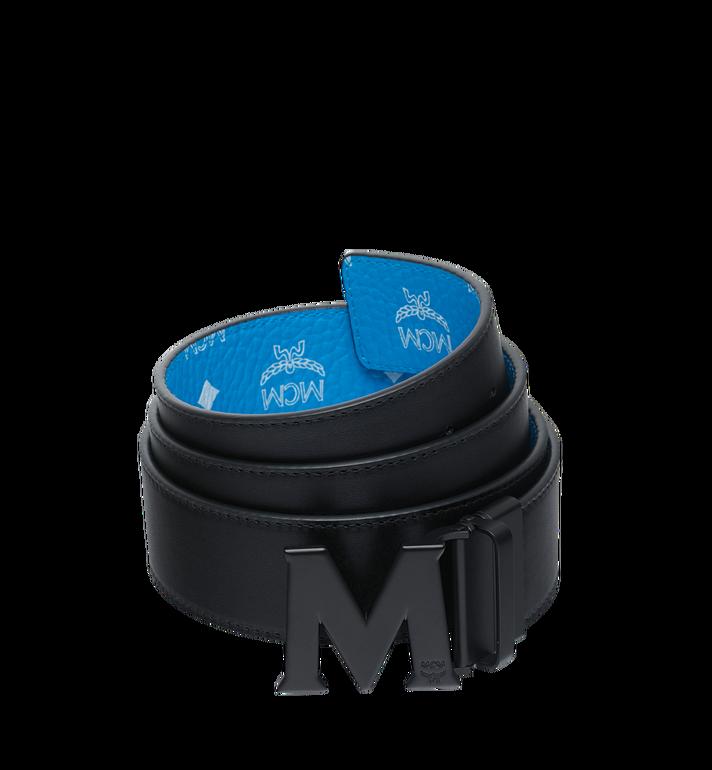 MCM 화이트로고 비세토스 블랙 M 리버시블 벨트 MXB9SVI10HI001 AlternateView2