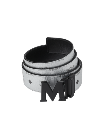 "MCM Black M Reversible Belt 1.75"" in Visetos Alternate View"
