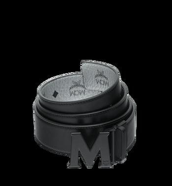 "MCM Black M Reversible Belt 1.75"" in White Logo Visetos MXB9SVI10SB001 AlternateView2"