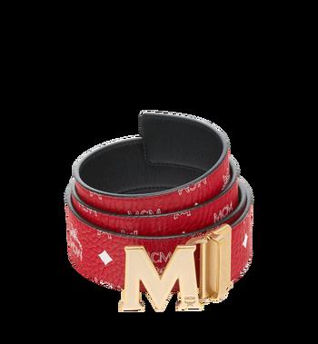 """MCM Claus Antique M Reversible Belt 1.75"""" in White Logo Visetos MXB9SVI11AV001 AlternateView"""