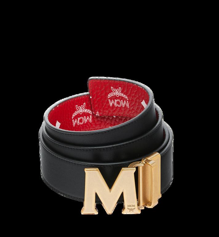 """MCM Claus Antique M Reversible Belt 1.75"""" in White Logo Visetos MXB9SVI11AV001 AlternateView2"""