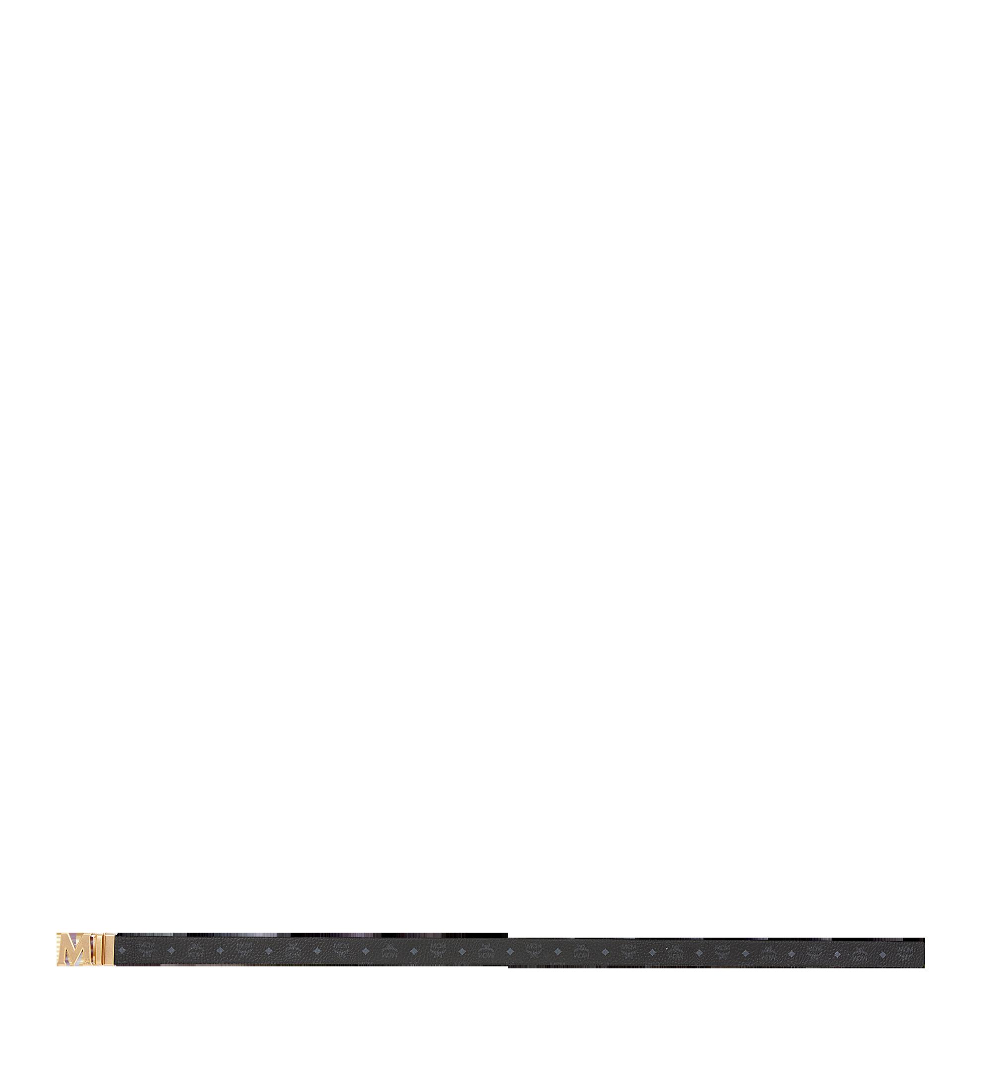 """MCM Antique M Reversible Belt 1.75"""" in Visetos Black MXB9SVI11BK001 Alternate View 3"""
