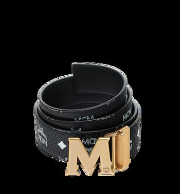 "MCM Antique M Reversible Belt 1.75"" in White Logo Visetos AlternateView"