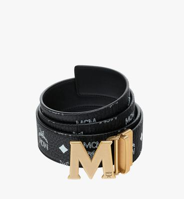 "Antique M Reversible Belt 1.75"" in White Logo Visetos"