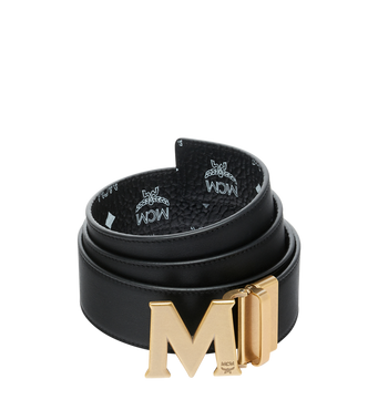 "MCM Antique M Reversible Belt 1.75"" in White Logo Visetos MXB9SVI11BV001 AlternateView2"