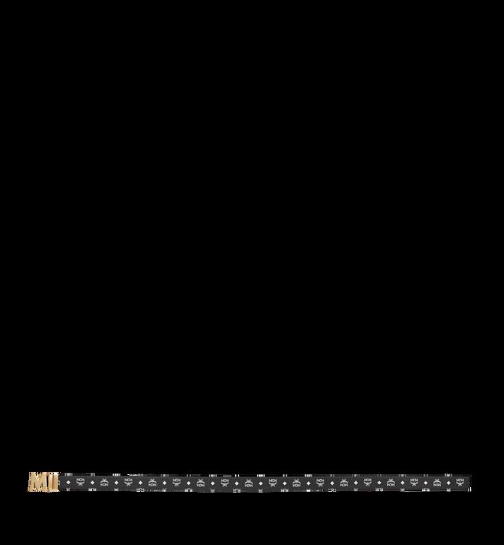 "MCM Antique M Reversible Belt 1.75"" in White Logo Visetos AlternateView3"