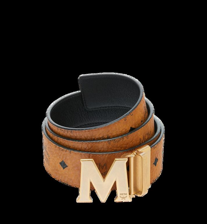 """MCM Antique M Reversible Belt 1.75"""" in Visetos Alternate View"""