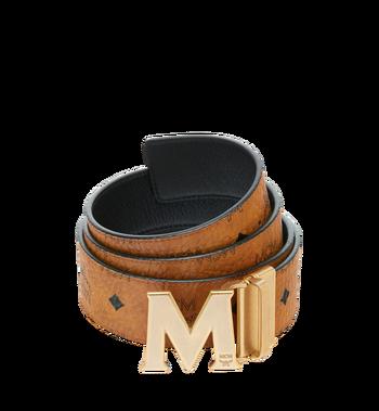 """MCM Antique M Reversible Belt 1.75"""" in Visetos MXB9SVI11CO001 AlternateView"""
