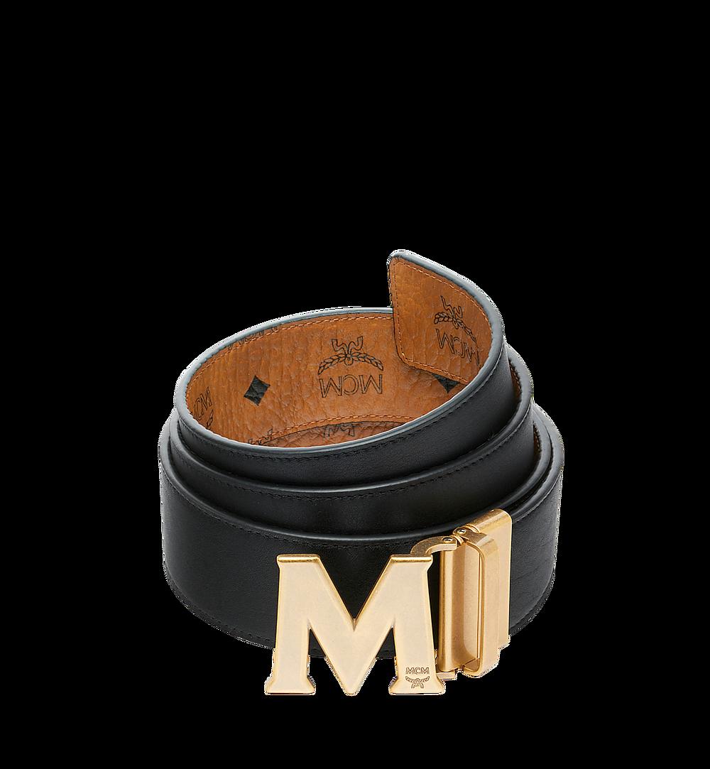 """MCM Antique M Reversible Belt 1.75"""" in Visetos Cognac MXB9SVI11CO001 Alternate View 1"""