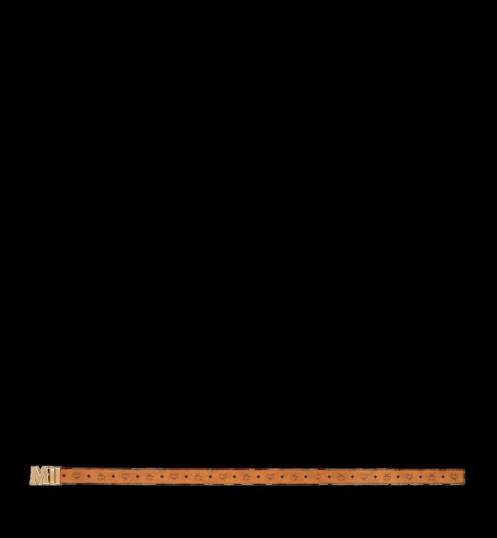 """MCM Antique M Reversible Belt 1.75"""" in Visetos Cognac MXB9SVI11CO001 Alternate View 2"""