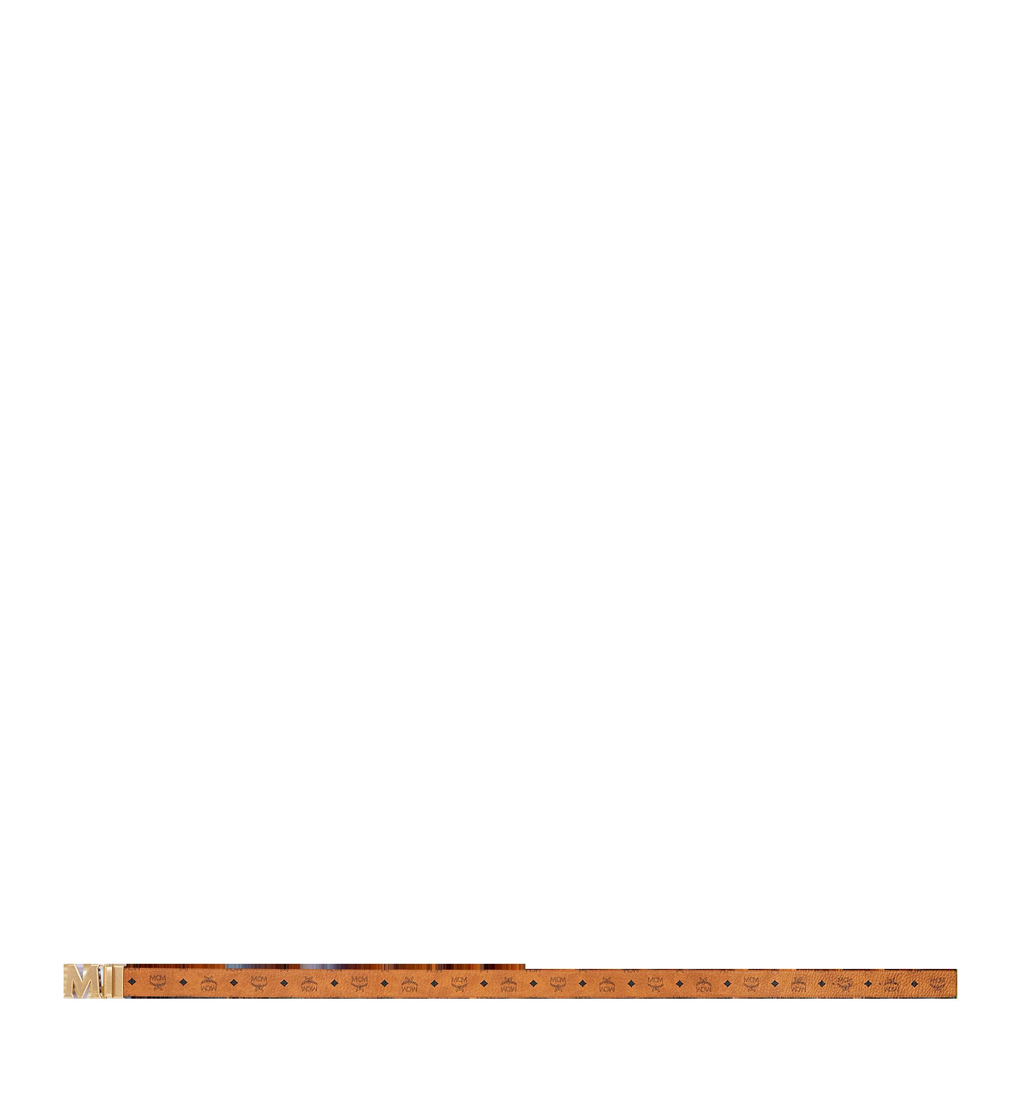 """MCM Antique M Reversible Belt 1.75"""" in Visetos Cognac MXB9SVI11CO001 Alternate View 3"""