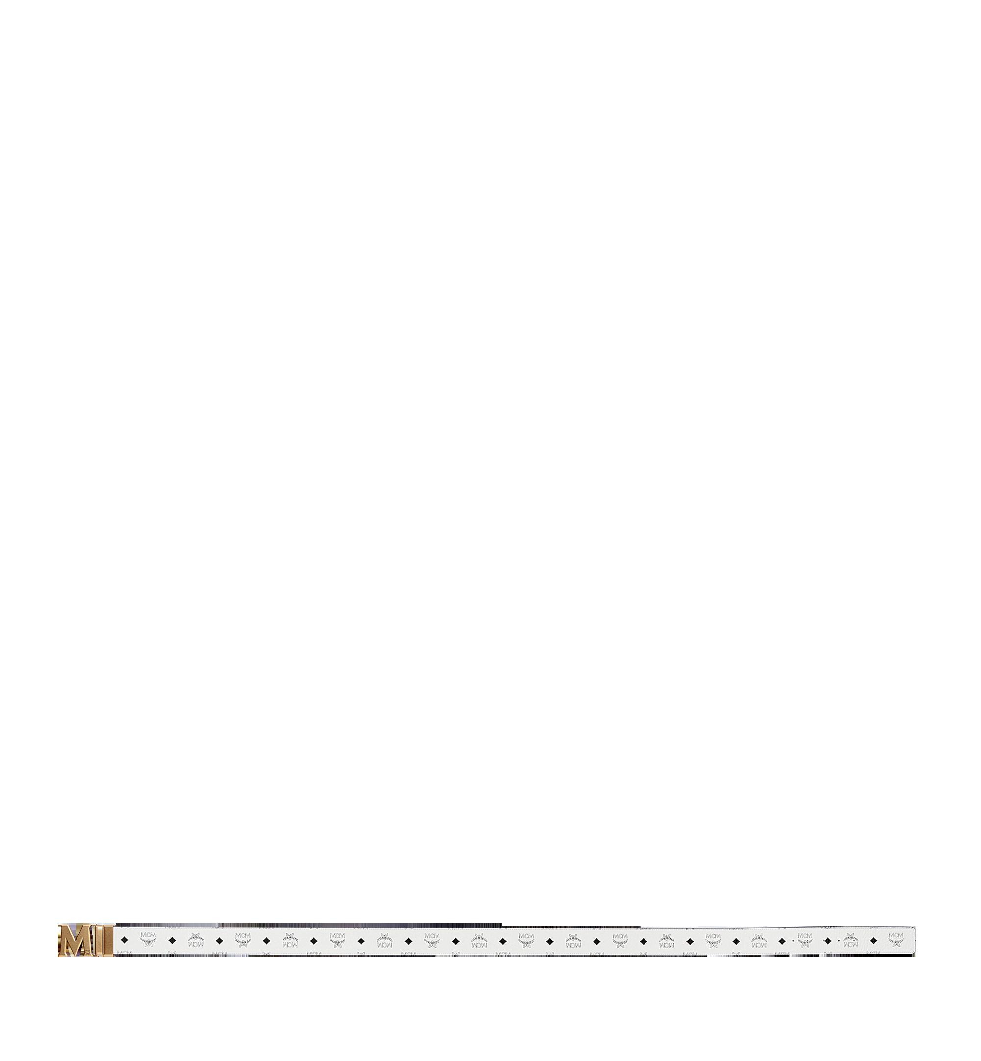 """MCM Antique M Reversible Belt 1.75"""" in Visetos White MXB9SVI11WT001 Alternate View 3"""