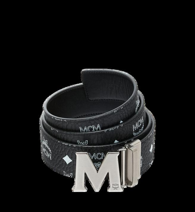 "MCM Antique M Reversible Belt 1.75"" in White Logo  Visetos Alternate View"