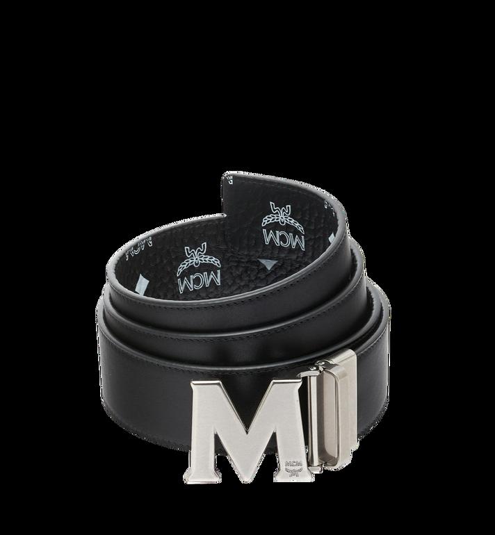 "MCM Antique M Reversible Belt 1.75"" in White Logo  Visetos Black MXB9SVI14BV001 Alternate View 2"