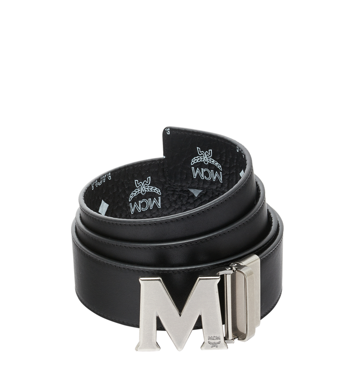 "MCM Antique M Reversible Belt 1.75"" in White Logo  Visetos AlternateView2"