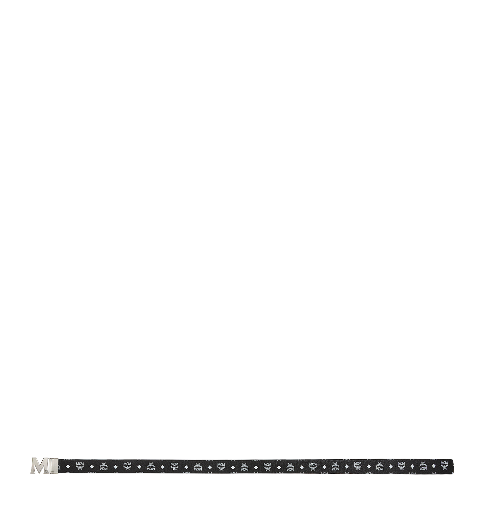 "MCM Antique M Reversible Belt 1.75"" in White Logo  Visetos Black MXB9SVI14BV001 Alternate View 3"