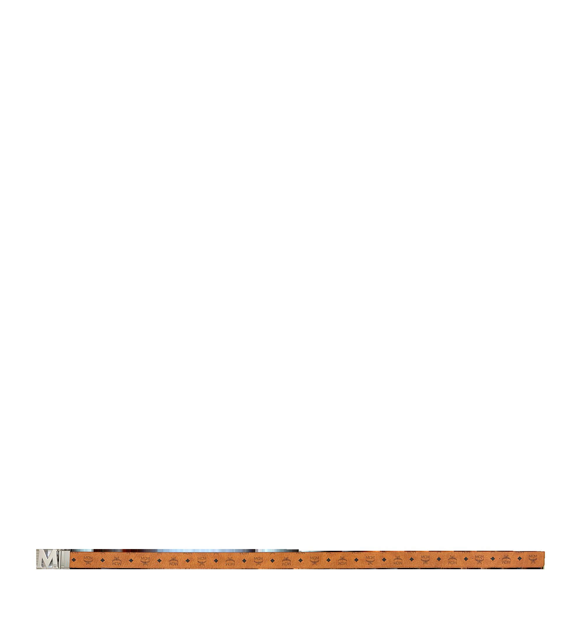 """MCM Antique M Reversible Belt 1.75"""" in Visetos Cognac MXB9SVI14CO001 Alternate View 3"""