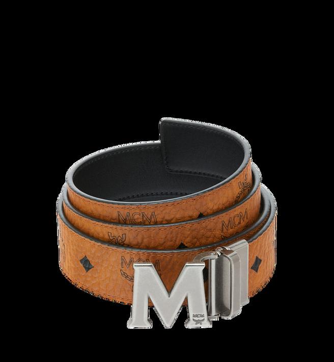 """MCM Claus Antique M Reversible Belt 1.5"""" in Visetos Alternate View"""