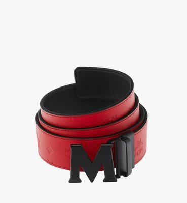 "Claus Black M Reversible Belt 1.75"" in Monogram Leather"